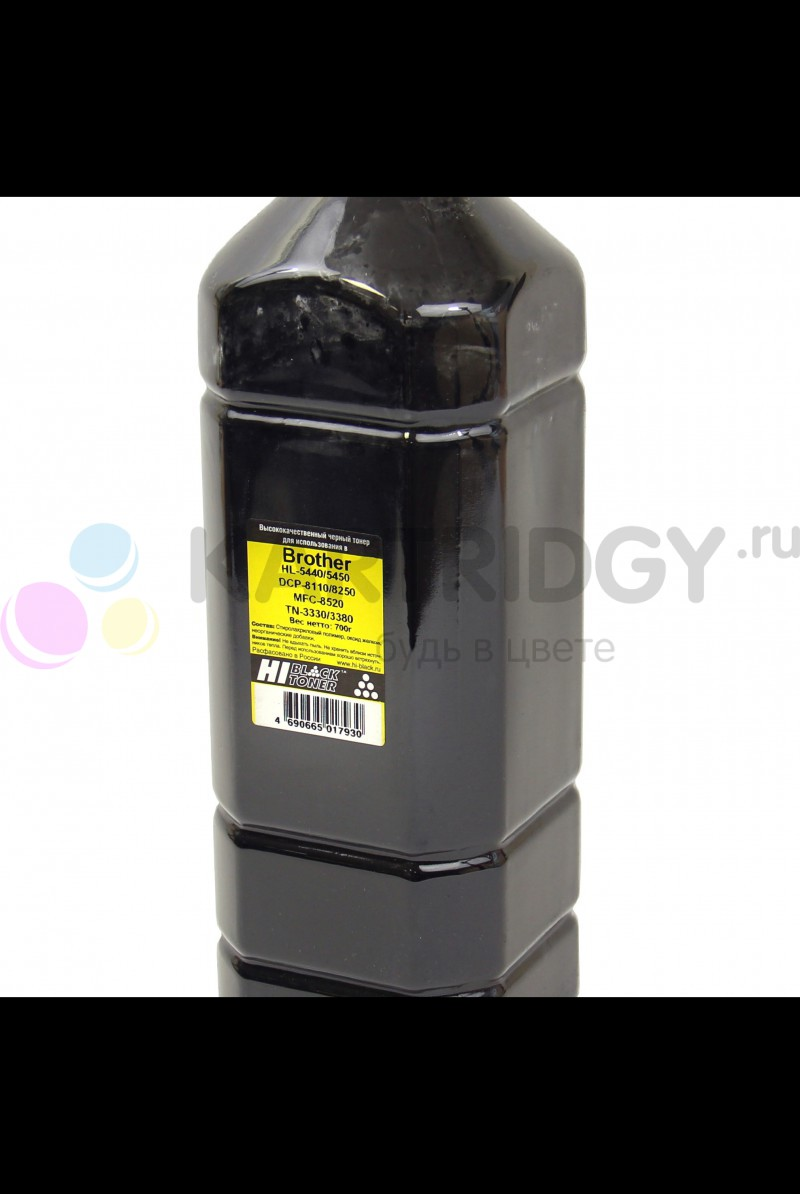 Тонер Hi-Black для  Brother HL-5440/DCP-8110/MFC-8520 (TN-3330/3380) Bk, 700 г, канистра